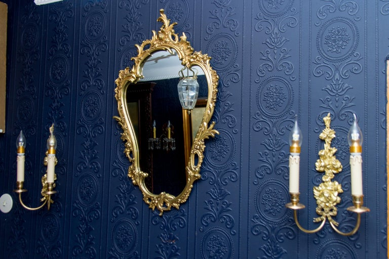 Louis XV Style Wall Mirror in Bronze For Sale 8