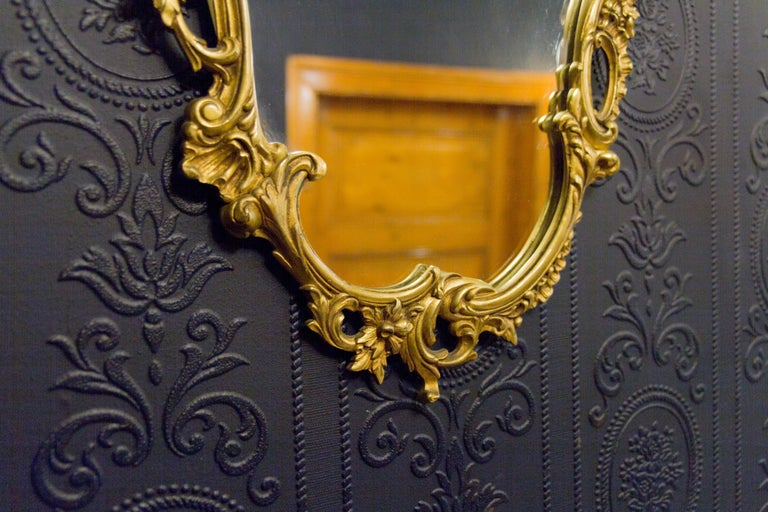 Louis XV Style Wall Mirror in Bronze For Sale 9