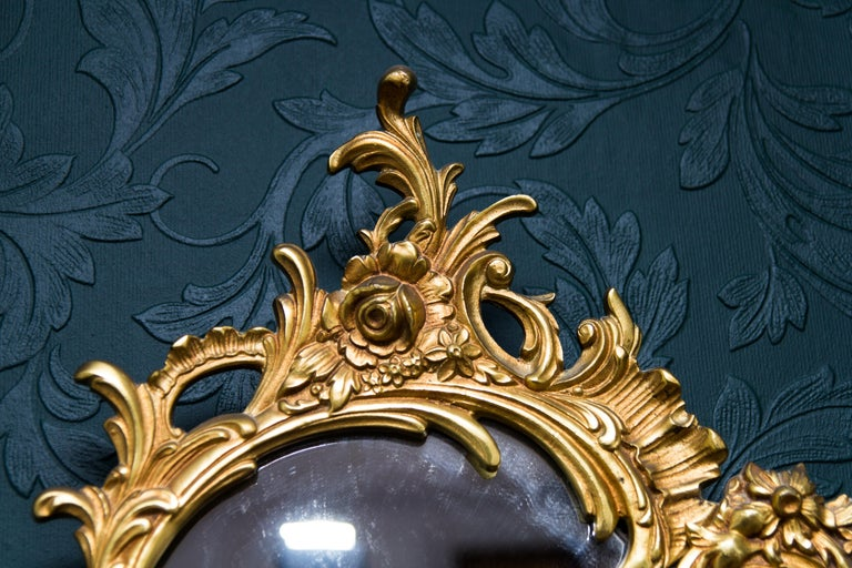 Louis XV Style Wall Mirror in Bronze For Sale 10