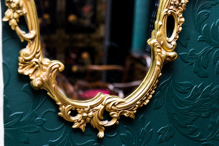 Louis XV Style Wall Mirror in Bronze For Sale 11