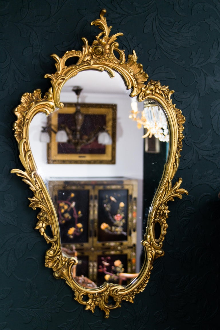 Louis XV Style Wall Mirror in Bronze For Sale 12