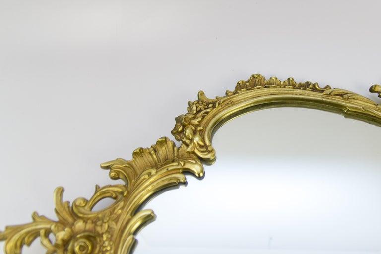 Louis XV Style Wall Mirror in Bronze In Good Condition For Sale In Barntrup, DE