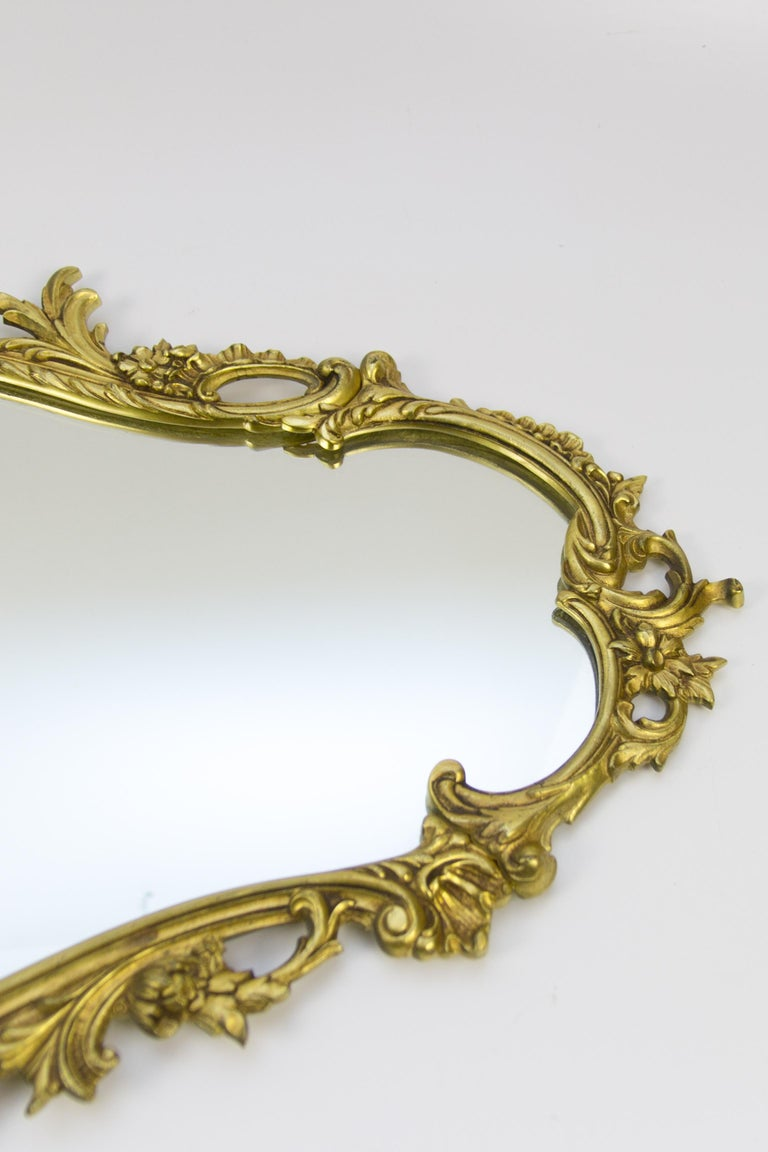 Mid-20th Century Louis XV Style Wall Mirror in Bronze For Sale