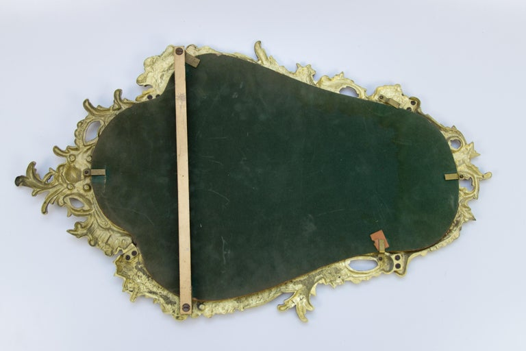 Louis XV Style Wall Mirror in Bronze For Sale 1