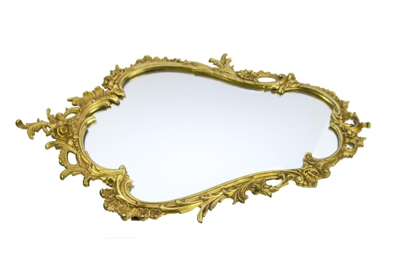 Louis XV Style Wall Mirror in Bronze For Sale 2