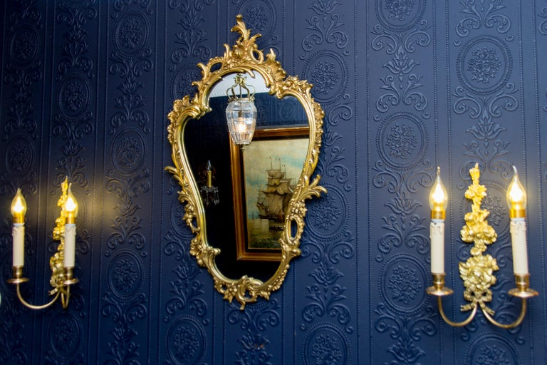 Louis XV Style Wall Mirror in Bronze For Sale 4