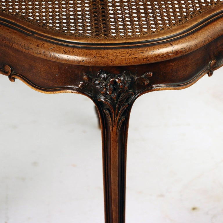Louis XV Style Walnut and Caned French Provincial Bergere For Sale 3