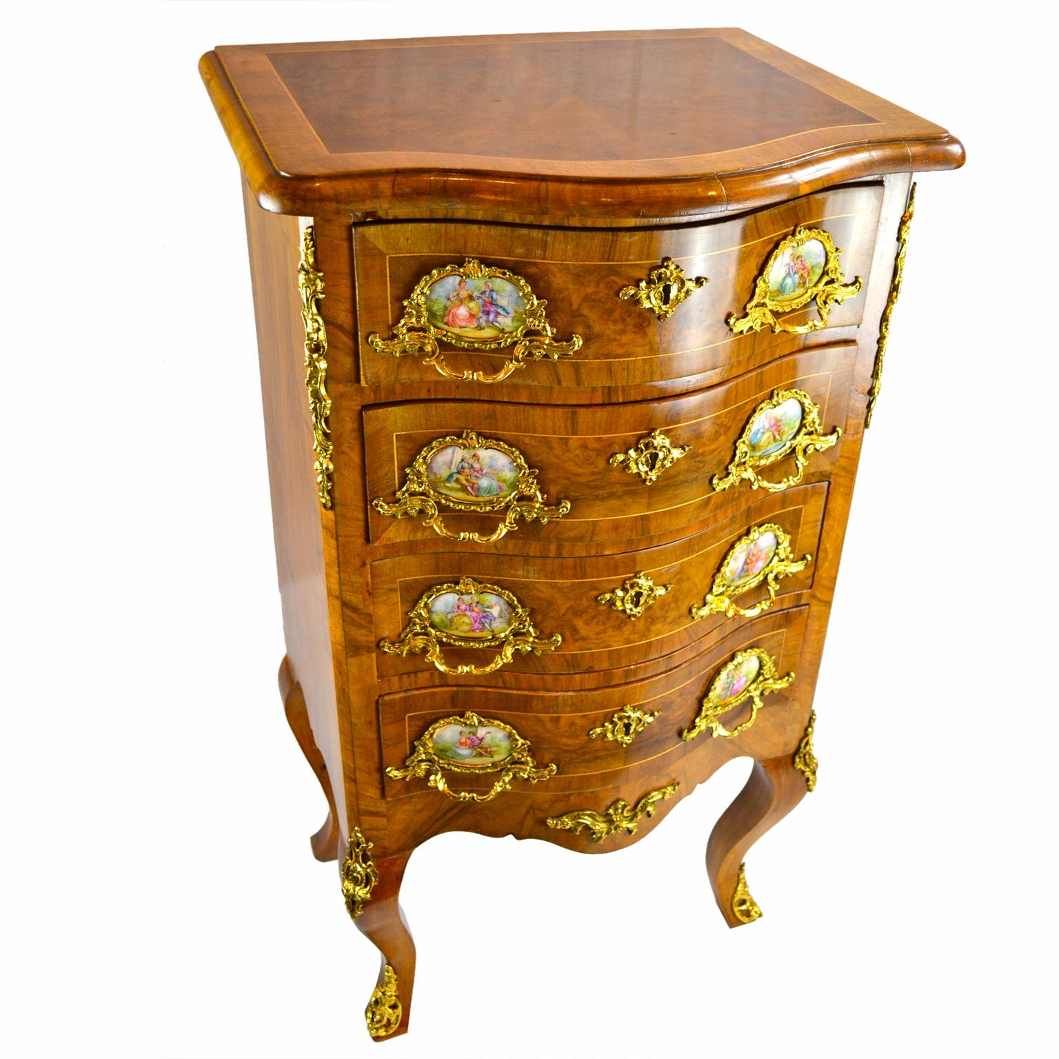 Antique Furniture French Antique Vintage Louis Xv Style Chest Of Drawers Year-End Bargain Sale Chests Of Drawers