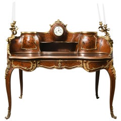 Louis XV Style Wood Parquetry Bronze Ormolu Mounted Bureau/Desk