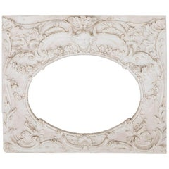 Louis XV Style Woodwork Manner Stucco Panel, 1970s