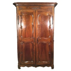 Louis XV Tall Armoire in Walnut, 18th Century