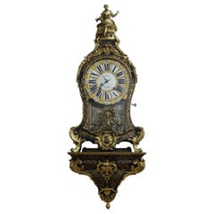 Louis XV Tortoiseshell Boulle Clock with Bracket