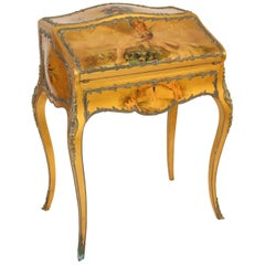 Louis XV Vernis Martin Style Bureau de Dame
