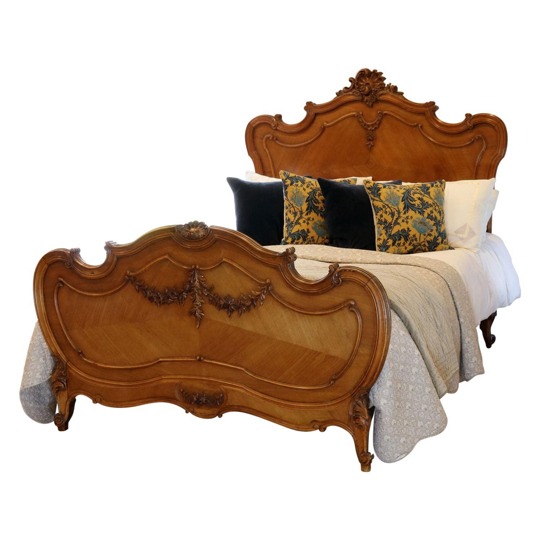Louis XV Walnut Antique Bed WK150