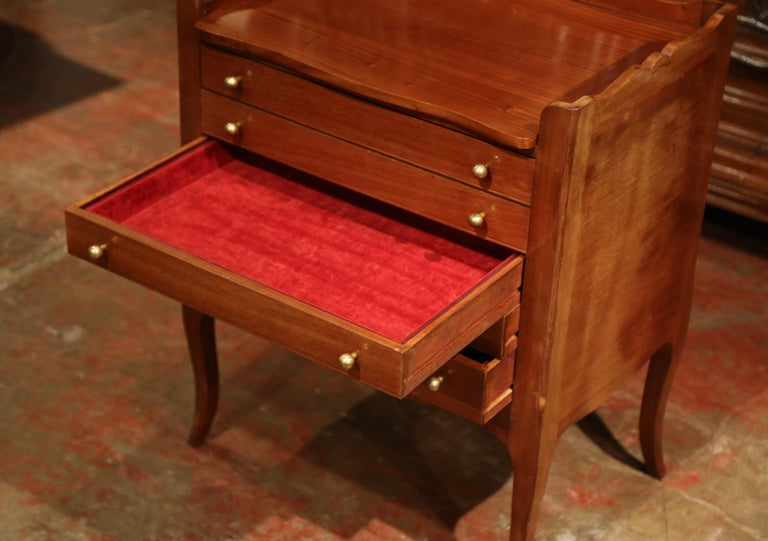Louis XV Walnut Chest with Stamped Christofle Silver Plated Flatware 181 Pieces For Sale 5