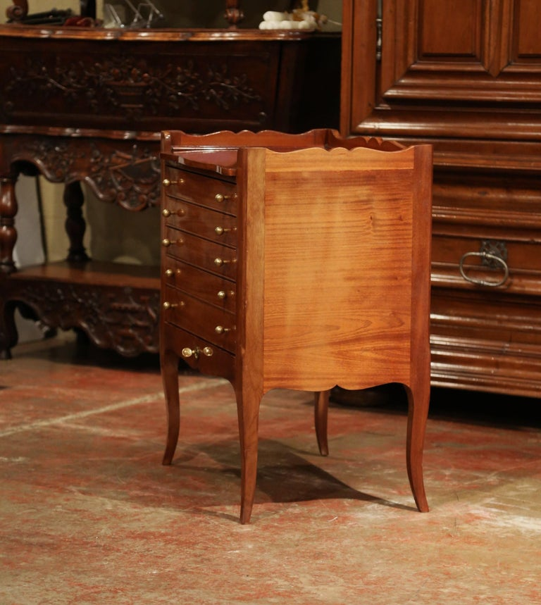 Louis XV Walnut Chest with Stamped Christofle Silver Plated Flatware 181 Pieces For Sale 12