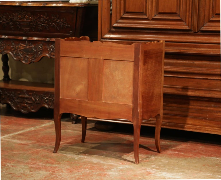 Louis XV Walnut Chest with Stamped Christofle Silver Plated Flatware 181 Pieces For Sale 13