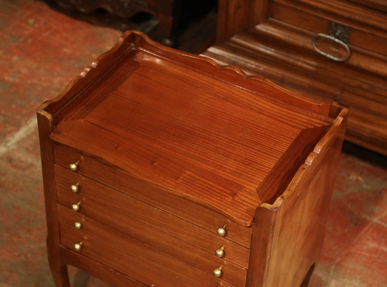 Patinated Louis XV Walnut Chest with Stamped Christofle Silver Plated Flatware 181 Pieces For Sale