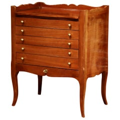 Louis XV Walnut Chest with Stamped Christofle Silver Plated Flatware 181 Pieces