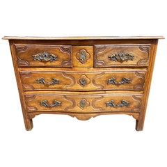 Louis XV Walnut Commode, Mid-18th Century