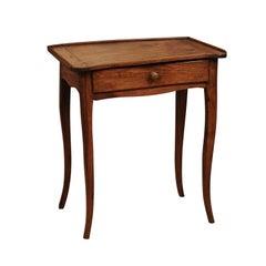 Louis XV Walnut Side Table, Mid 18th Century