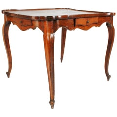 Louis XV Walnut Table with Galleried Top, circa 1780