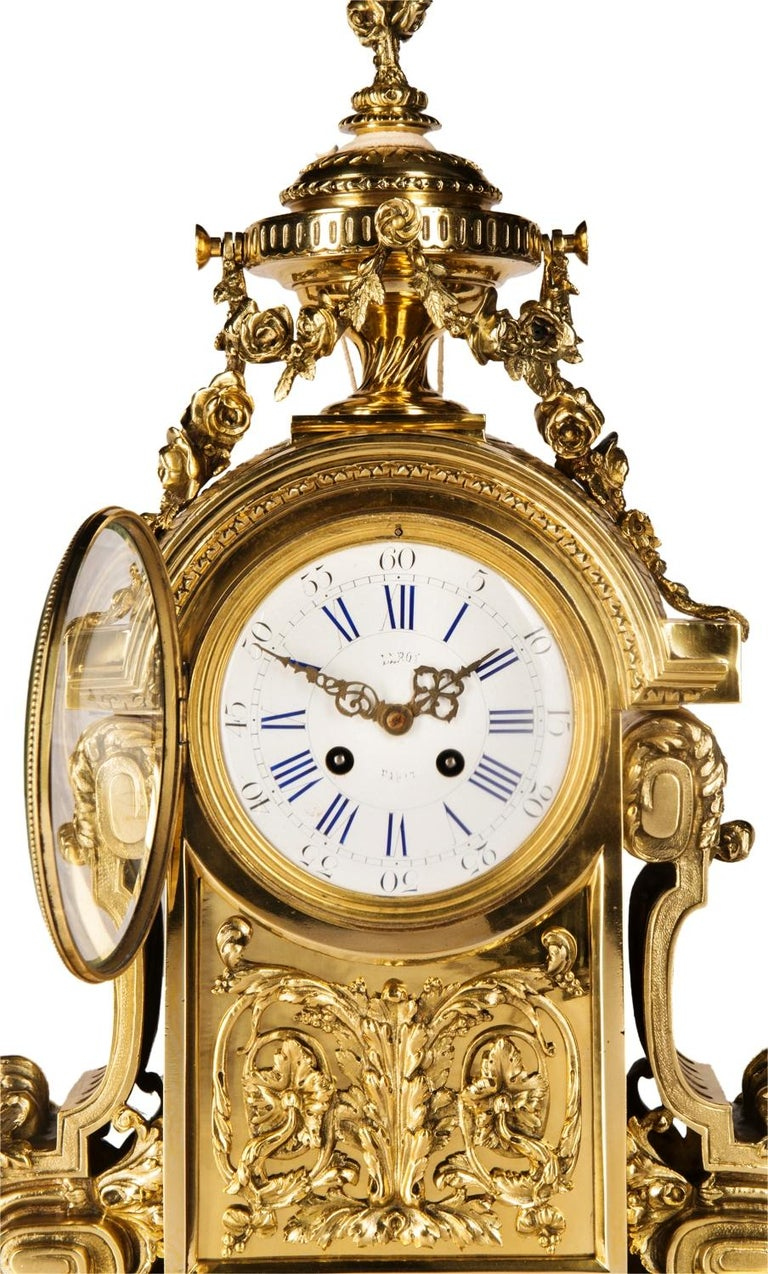 French Louis XVI 19th Century Mantel Clock by Leroy For Sale