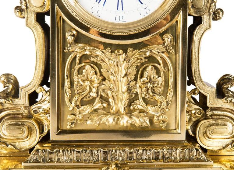 Ormolu Louis XVI 19th Century Mantel Clock by Leroy For Sale