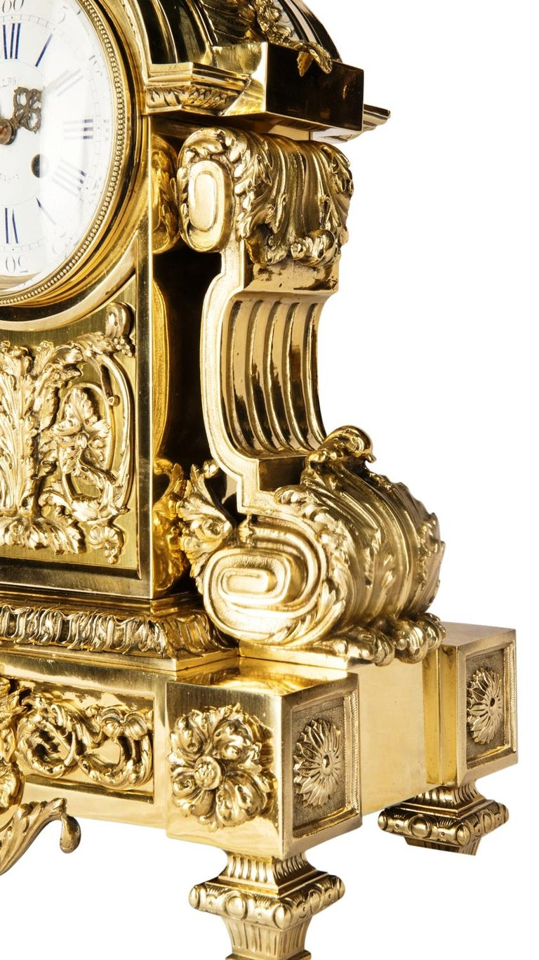 Louis XVI 19th Century Mantel Clock by Leroy For Sale 3