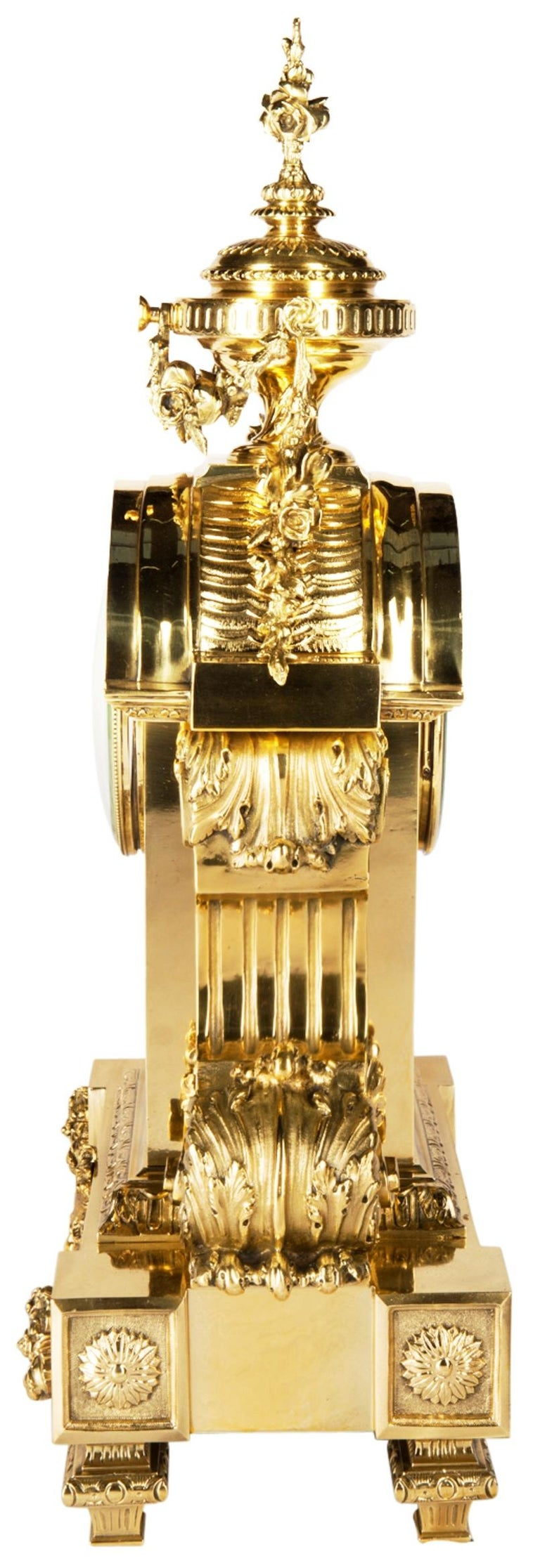 Louis XVI 19th Century Mantel Clock by Leroy For Sale 4
