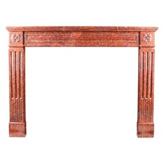 Orange Fireplaces and Mantels