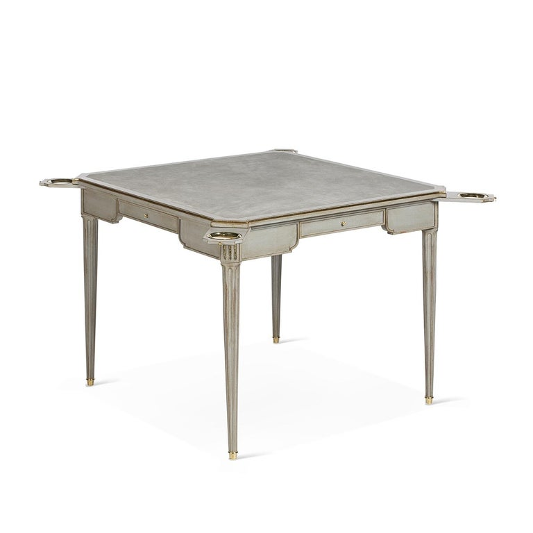 Louis XVI Beechwood Gaming Table 8706 In New Condition For Sale In Milan, IT