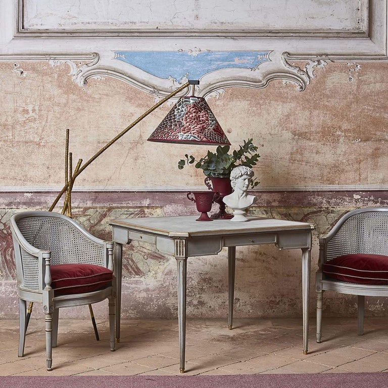 Contemporary Louis XVI Beechwood Gaming Table 8706 For Sale