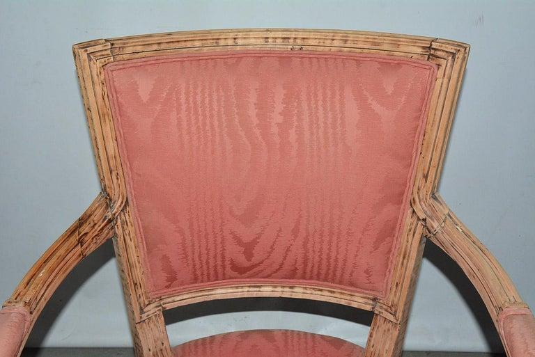Wood Louis XVI Bergère For Sale