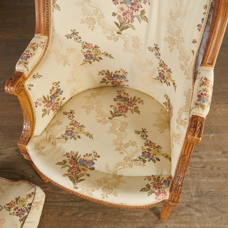 French Louis XVI Bergère, Signed
