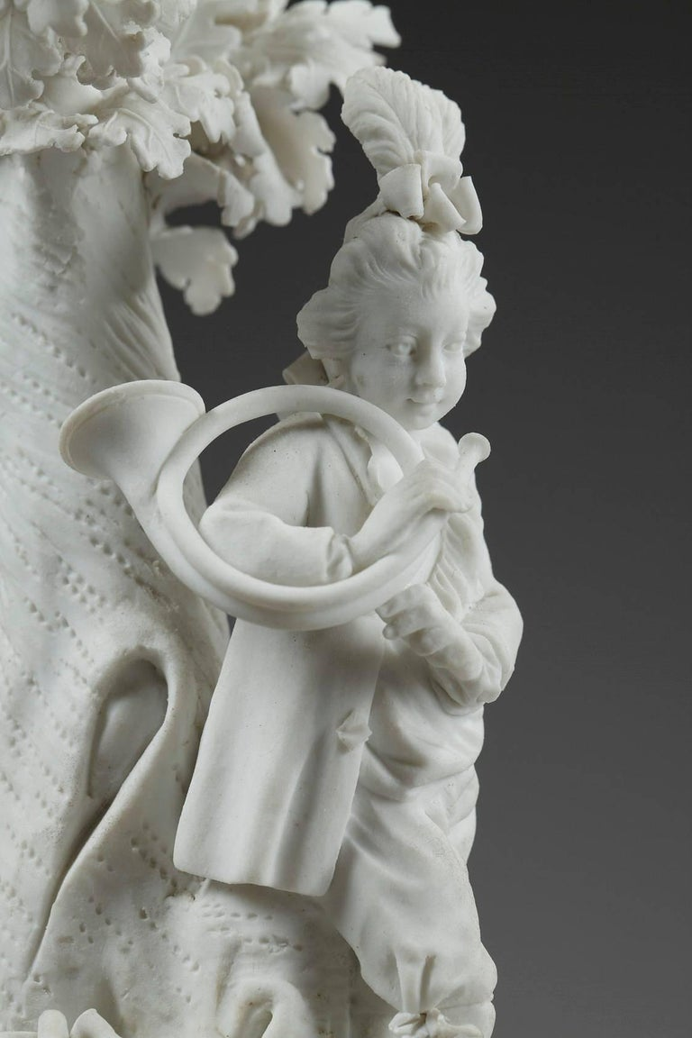 Louis XVI Bisque Musicians by Locre and Russinger For Sale 3