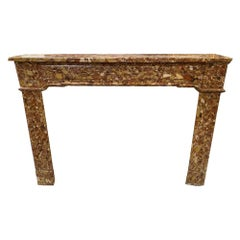 Louis XVI Breche Marble Mantel
