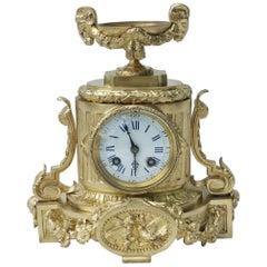 Louis XVI Bronze Table Pendulum Clock France, 19th Century