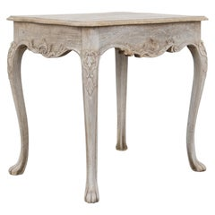 Louis XVI Cabriole Leg Oak Table