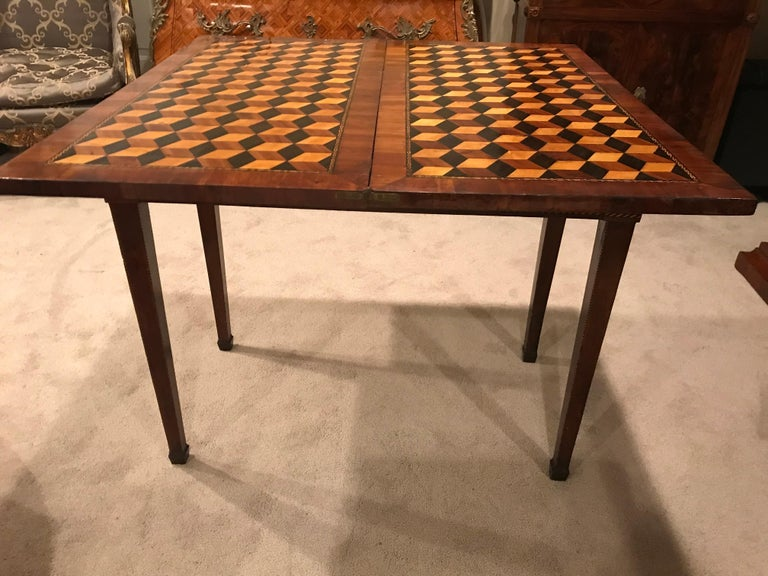 Late 18th Century Louis XVI Card Table, France, 18th Century For Sale