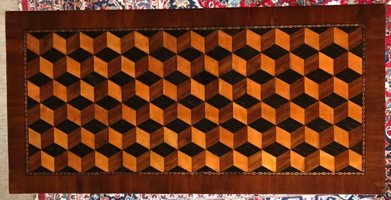 Marquetry Louis XVI Card Table, France, 18th Century For Sale