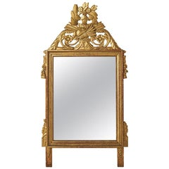 Louis XVI Carved Gilded Mirror, circa 1770, France