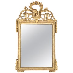 Louis XVI Carved Gilt Mirror