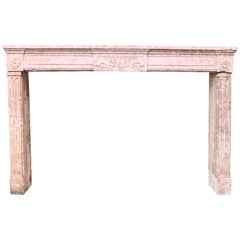 Louis XVI Chimneypiece in Burgundy Stone