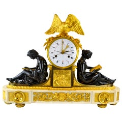 Louis XVI Clock Depicting L'Etude 'Learning' et La Philosophie 'Philosophy'