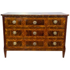 Louis XVI Commode, Walnut, Maple, Plum, Ebony, Brass, South Germany, circa 1790