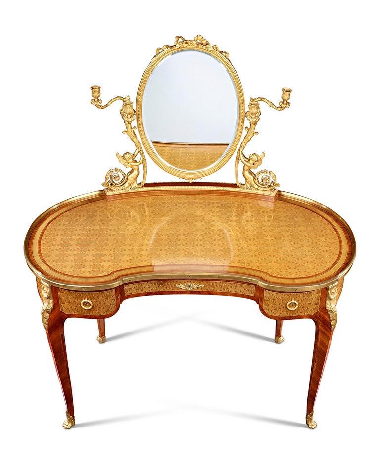 Mirror Louis XVI Dressing Table by Paul Sormani For Sale