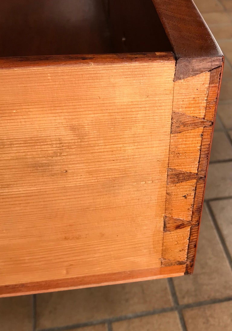 Louis XVI Drop Front Desk, France 1780-1800, Walnut Root Veneer For Sale 3