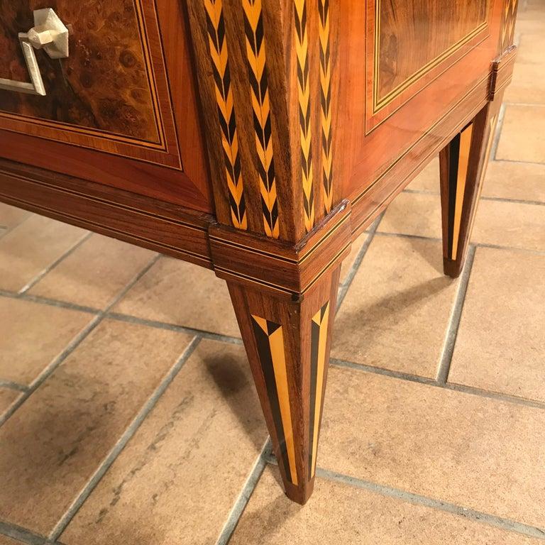 Louis XVI Drop Front Desk, France 1780-1800, Walnut Root Veneer For Sale 7
