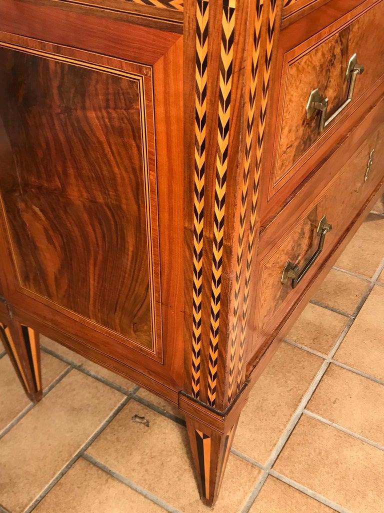 Louis XVI Drop Front Desk, France 1780-1800, Walnut Root Veneer For Sale 1